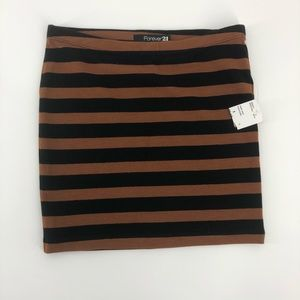 Forever 21 | Striped Stretch Skirt | Size Small